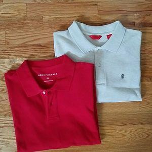Aeropostale & Izod short sleeve polo shirts in XL